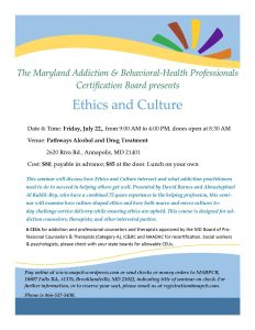7-22-16 Flyer Ethics and Culture